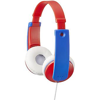 JVC Tiny Phones Kids Stereo Headphones with Volume Limiter Blue/Red (HAKD7R)