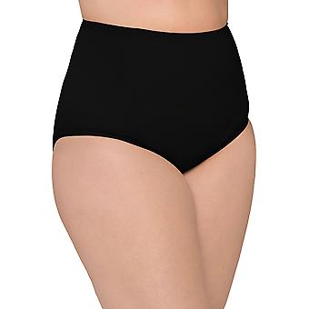Body Wrap Fuller Figure Black Mid Rise Brief B55042