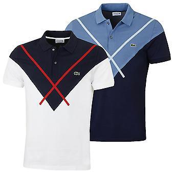 Lacoste Herren Kurzarm gerippten Kragen durable Polo Shirt