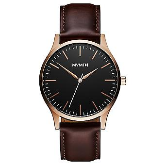 MVMT 40 SERIES Rose Gold Brown Men's Watch WMDLI Leather MT01-BLBR