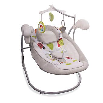 Cangaroo Babywippe Yoyo, 10 Melodien, Timer, 3 Stufen, Adapter, 5-Punkt-Gurt