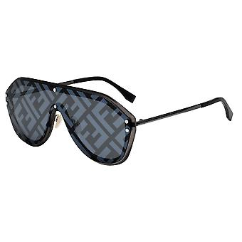 Fendi Fabulous FF M0039/G/S V81/MD Dark Ruthenium-Black/Grey-Silver Mirror