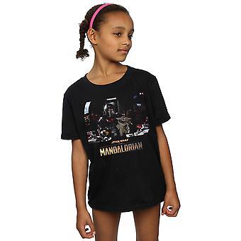 Star Wars-dívky Mandalorianské dítě na palubě trička