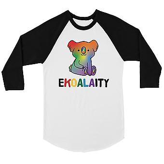 LHBT Ekoalaity Koala Rainbow Bkwt Menns Baseball skjorte jul
