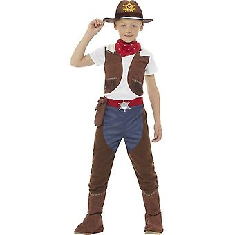 Deluxe Cowboy Costume, Brown, with Top, Trousers & Necktie