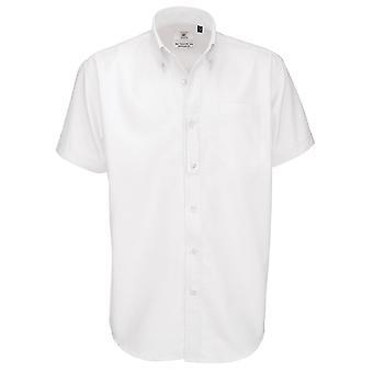 B&C Mens Oxford Short Sleeve Shirt / Mens Shirts