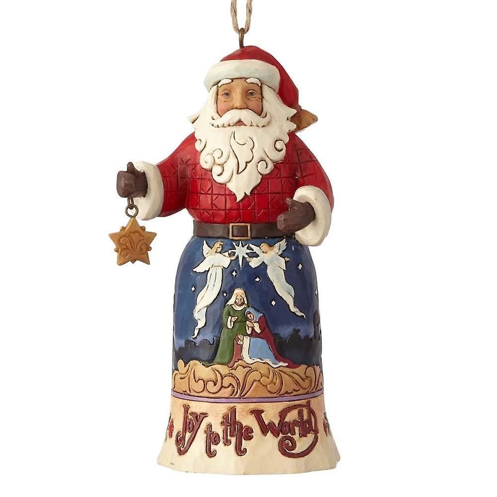 Jim Shore Heartwood Creek Joy To The World Santa Hanging Ornament