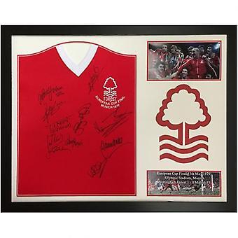 Nottingham Forest 1979 European Cup Final Signert Skjorte (Innrammet)