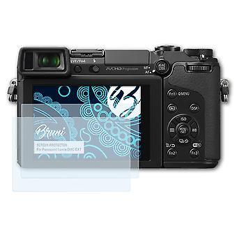 Bruni 2x Skärmskydd kompatibel med Panasonic Lumix DMC-GX7 Skyddsfilm