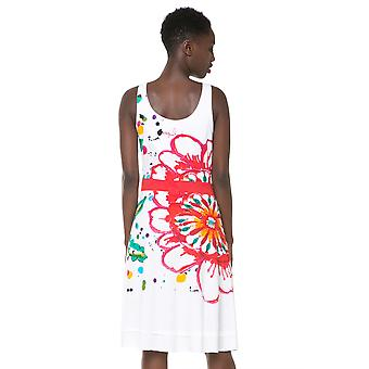 Desigual White & Bright Paint Splash & Flower Kepa Dress
