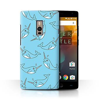 STUFF4 Case/Cover for OnePlus 2/Two/Cartoon Whale/Cute Narwhal Unicorn