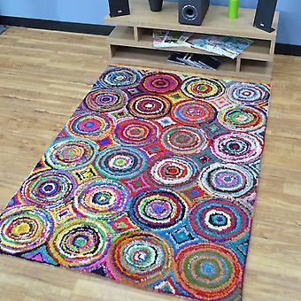 Katoen Chindi Rainbow veelkleurige tapijten 02