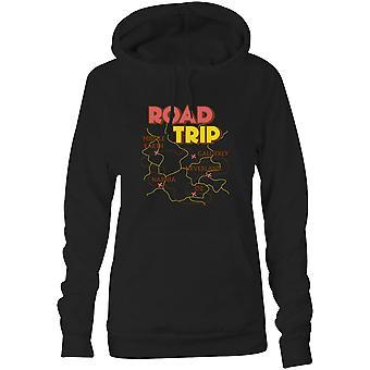 Womens Sweatshirts Kapuzen Hoodie - Road Trip