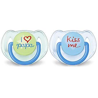 Avent Pacifiers Classic Texts 6 to 18 Months Child 2 pcs