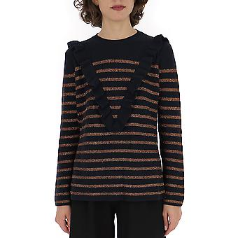 Red Valentino Sr3kcb064gjjzm Women's Multicolor Cotton Sweater