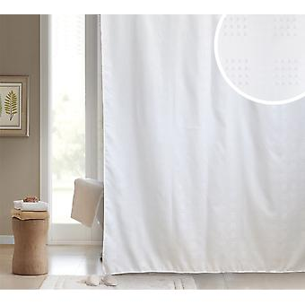 Sophia White Polyester Shower Curtain 180 x 180cm