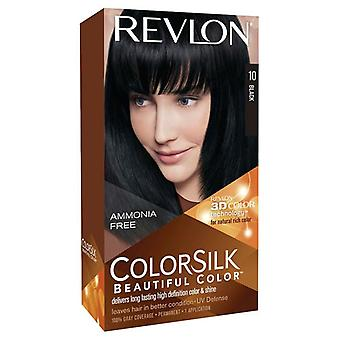 Revlon colorsilk permanent haircolor, #10 black 1 ea