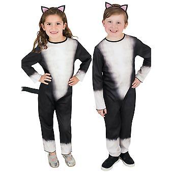 Gato negro gatito gatito felino animal pet libro semana unisex niñas traje