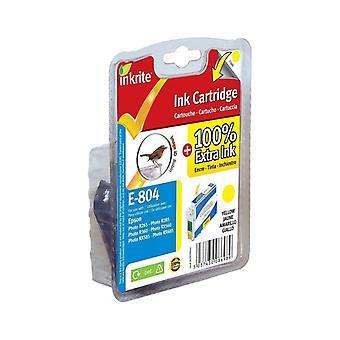 Inkrite NG imprimante encre pour Epson R265 R360 RX560 - T080440 jaune (Robin)