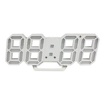 Relógio 3D Digital - Branco