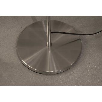 """16"""" X 16"""" X 71"""" Brushed steel Metal 300W Torchiere"""
