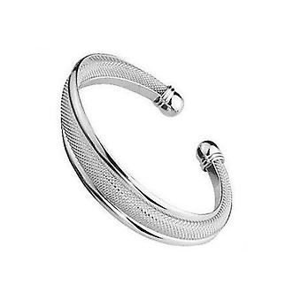 The Olivia Collection Silvertone and Mesh Twist Bangle