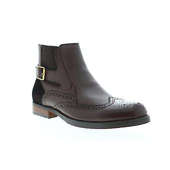 English Laundry Bond  Mens Brown Leather Zipper Chelsea Boots Shoes