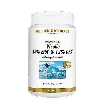 Golden Naturals Fish oil 18% EPA & 12% DHA (500 softgel capsules)