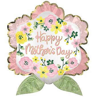 Anagram Supershape Happy Mothers Day Satin Luxe Flower Balloon