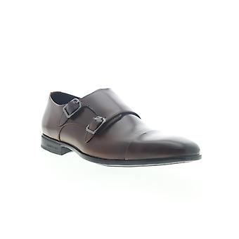 Kenneth Cole New York Regal Monk B Mens Brown Vestido Monge Sapatos de Cinta