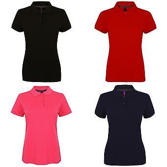 Henbury Womens/Ladies Micro-Fine Short Sleeve Polo Shirt