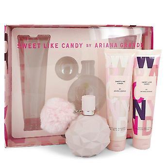 Sweet Like Candy Gift Set By Ariana Grande 3.4 oz Eau De Parfum Spray + 3.4 oz Body Souffle + 3.4 oz Bath & Shower Gel