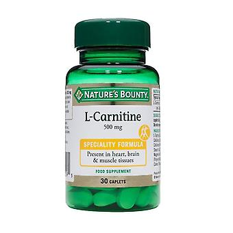 Nature's Bounty L-Carnitine 500mg Caplets 30 (N1683)