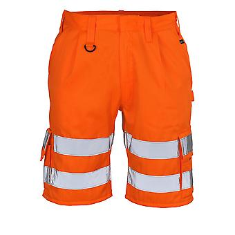 Mascot pisa hi-vis work shorts 10049-860 - safe classic, mens