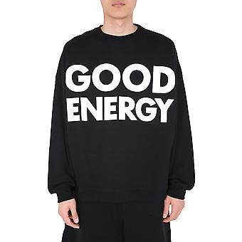 Moschino 170870271555 Herren's schwarze Baumwolle Sweatshirt