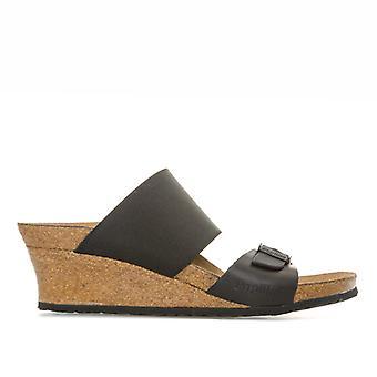 Women's Papillio Della Wedge Sandals Narrow Width in Black