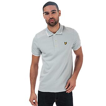 Men's Lyle And Scott Nylon Panel Polo Shirt in Silver