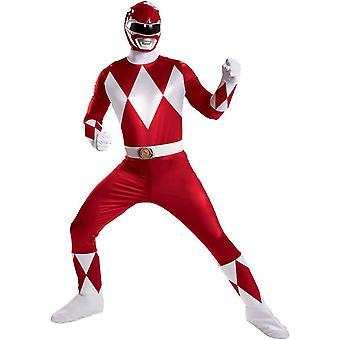 Röda Power Ranger dräkt vuxen