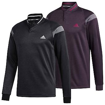 adidas Golf Mens 2020 Warmth Button Layer Mock Pullover Sweater