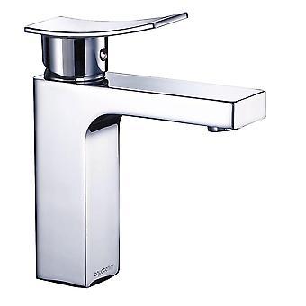 Aquaterior Modern Single Handle  Bathroom Faucet One Hole Deck Mount Bathroom Sink Faucet Chrome( CUPC NSF )