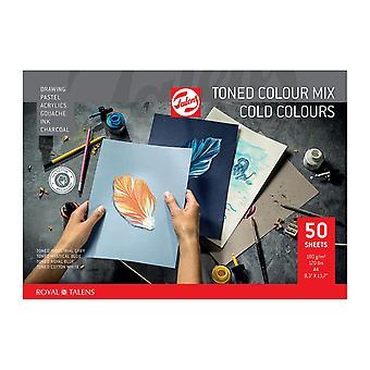 Talens Toned Colour Mix Paper 50 Feuilles A4 (Couleurs froides)