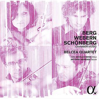 Quarteto Belcea / osso, Nicolas / Meneses, Antonio - Berg Schoenberg Webern: importação de música de câmara [CD] EUA