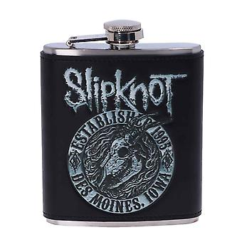Slipknot Hip Flask Flaming Goat Band Logo nowy Oficjalny Black Metal 7uncja