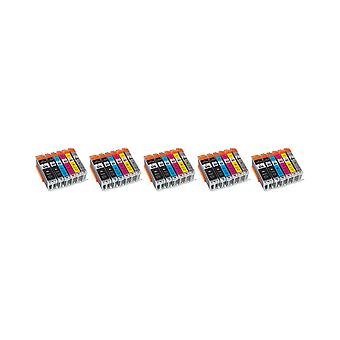 RudyTwos 5x Replacement for Canon PGI-570XL CLI-571XL Set Ink Unit Black Cyan Magenta Yellow Light Cyan & Light Magenta Compatible with Pixma MG5700, MG5750, MG5751, MG5752, MG5753, MG6800, MG6850, MG