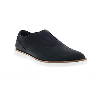 Clarks Banwell Free  Mens Black Nubuck Leather Casual Loafers Shoes