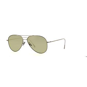 Cutler and Gross 1266 SUN PPL-PG Palladium Plated/Pale Green Sunglasses