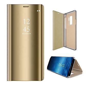 Samsung Galaxy A21s - Smart Clear View Fodral - Guld