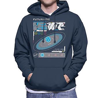 The Crystal Maze Futuristic Interface Men's Hooded Sweatshirt