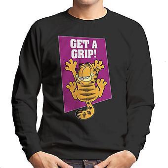 Garfield Get A Grip On The Wall Men's Sweatshirt