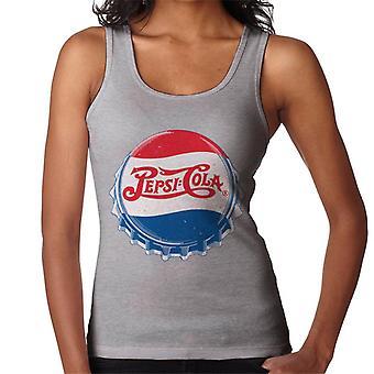 Pepsi Cola 1945 Distressed Bottlecap Damen Weste
